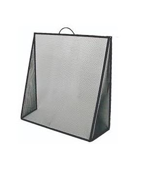 FireUp Sloping Fire Screen with Fixed Wing, Heater Accessories, S&D Berg