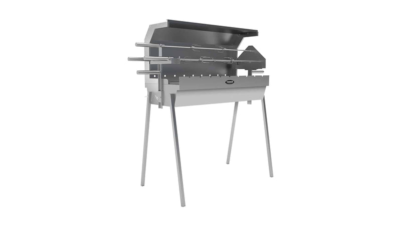 Tucker Semi Hooded 900mm Charcoal Spit, BBQ, Tucker Australia