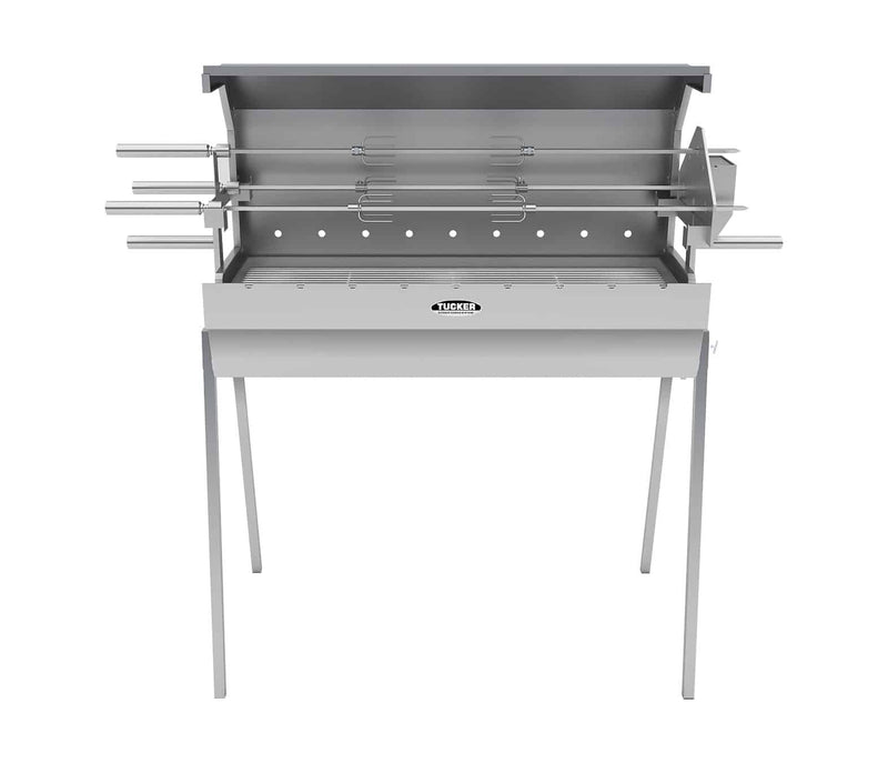 Tucker Semi Hooded 900mm Charcoal Spit