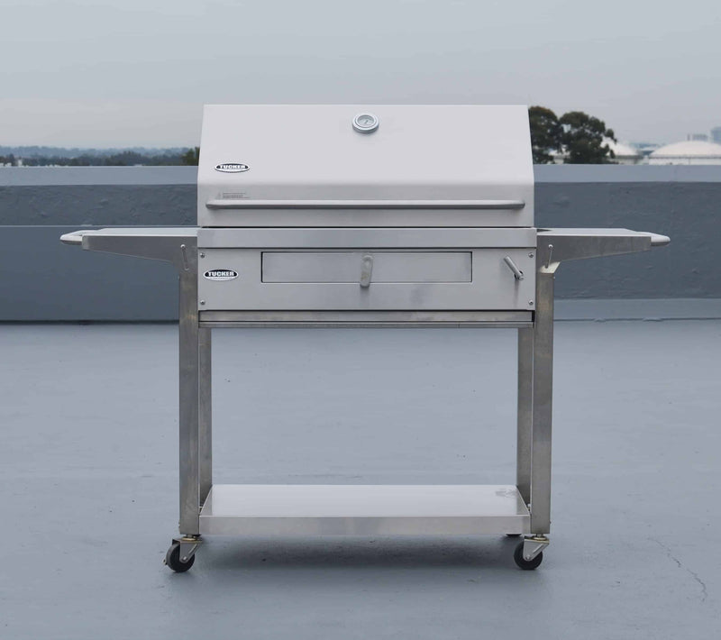 Tucker Charcoal Deluxe with Shelf Stand Trolley, BBQ, Tucker Australia