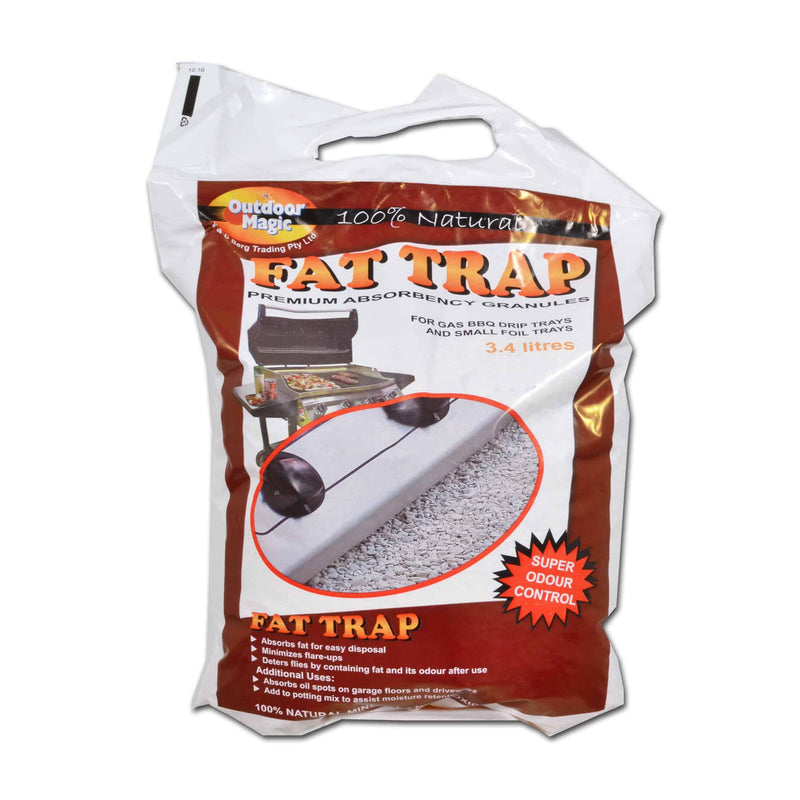 Outdoor Magic Fat Trap Absorbency Granules 3.4L, , Tucker from the original BBQ Factory