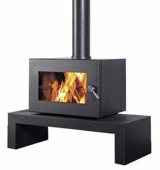 Blaze 605 Wood Heater with Coffee Table Base, Heater, Pecan Engineering