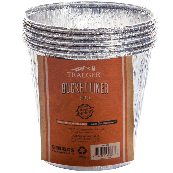 Traeger Bucket Liners - 5 Pack, BBQ Accessories, Traeger