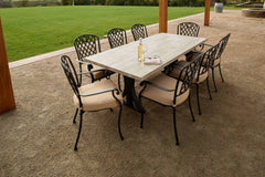 Melton Craft 9 Piece Clifton Dining Table Setting, Furniture, Melton Craft