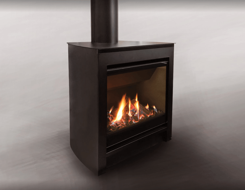 Escea DFS730 Freestanding Gas Fireplace, Heater, Glen Dimplex