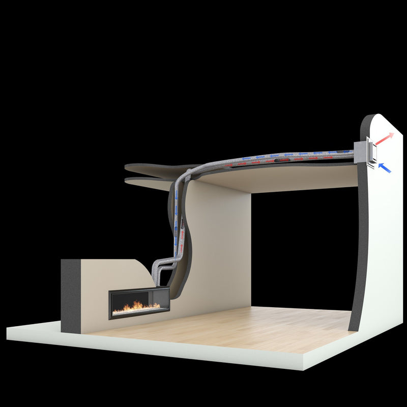 Escea DL850 Gas Fireplace, Heater, Glen Dimplex