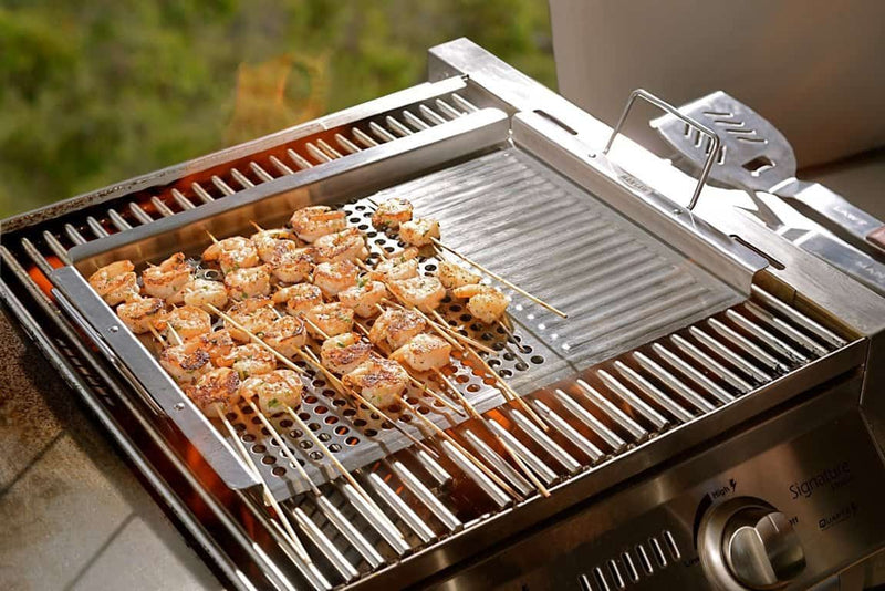 Man Law Stainless Steel Grill Topper, BBQ Accessories, Man Law Premium BBQ Tools