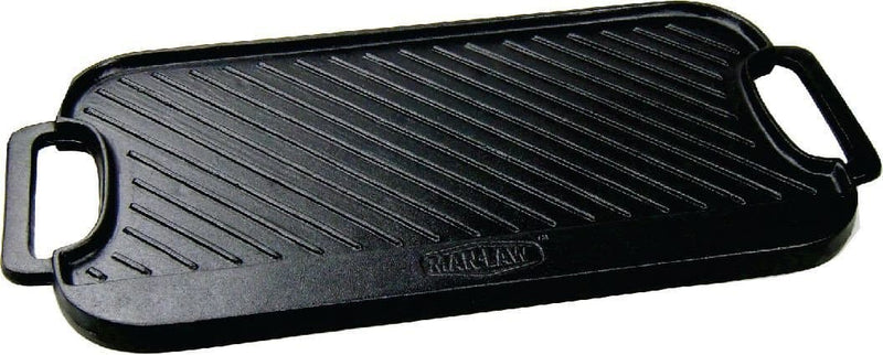 Man Law Cast Iron Double Sided Griddle, BBQ Accessories, Man Law Premium BBQ Tools