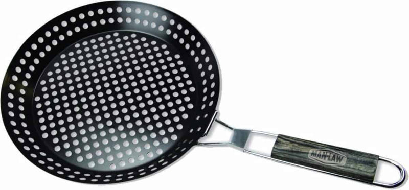 Man Law Non-stick Skillet Basket, BBQ Accessories, Man Law Premium BBQ Tools