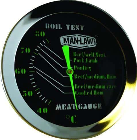 Man Law Dial Type Meat Thermometer, BBQ Accessories, Man Law Premium BBQ Tools