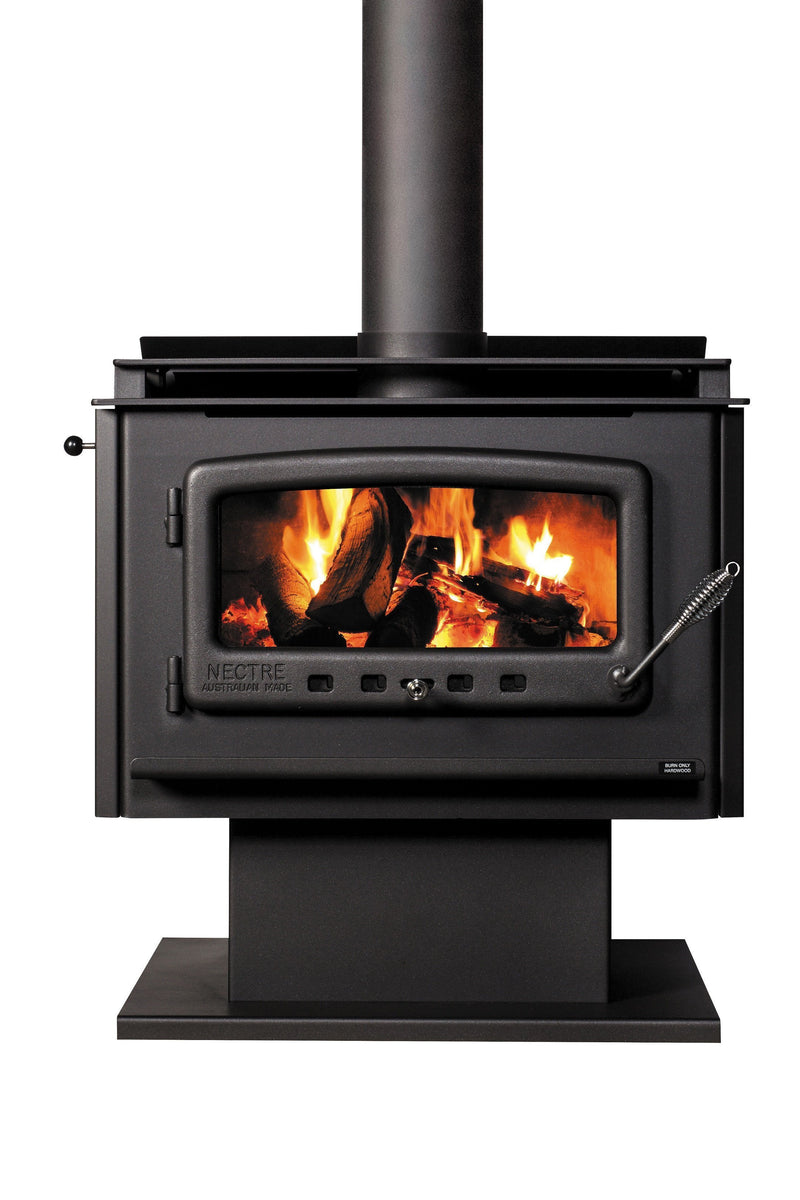 Nectre Mega Wood Fire, Heater, Pecan Engineering