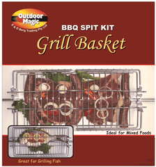 Outdoor Magic Spit Grill Basket, BBQ Accessory, S&D Berg