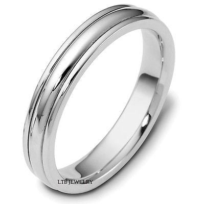 10K WHITEGOLDMENS WEDDING BAND RING 4MM