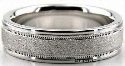 950 PLATINUM MENS WEDDING BAND RING 7MM