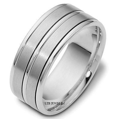 950 PLATINUM MENS WEDDING BAND 8MM RING