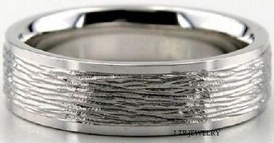 950 PLATINUM MENS WEDDING BAND RING 6MM