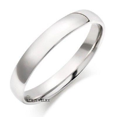 MENS 18K WHITE GOLD   WEDDING BAND RING  4.5MM