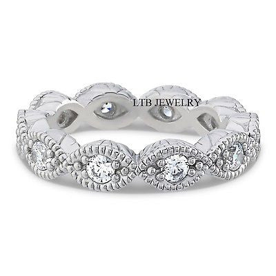 Diamond Eternity Rings,14K Womens Wedding Rings,Diamond Wedding Bands