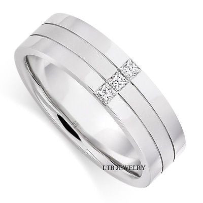 950  MENS DIAMOND WEDDING BAND RING 6MM