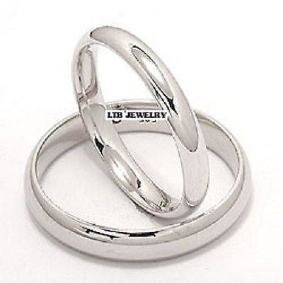 950 PLATINUM MATCHING HIS & HERS WEDDING BAND RINGS MENS WOMENS SET