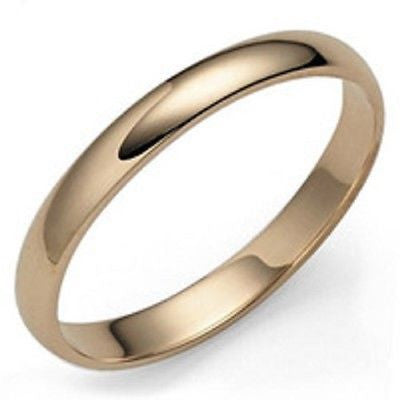 10K YELLOW GOLD MENS WEDDING BAND RING  4MM