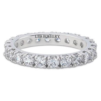Diamond Eternity Rings,14K Womens Wedding Rings,Diamond Wedding Bands 1.68ct