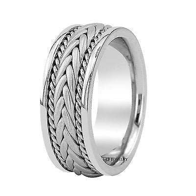 950 PLATINUM MENS WEDDING BAND RING 8MM