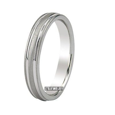 10K WHITE GOLD MENS WEDDING BAND RING