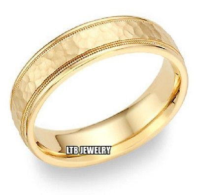 18K YELLOW GOLD MENS  WEDDING BAND 5MM