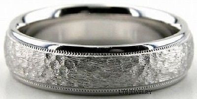 MENS 950  PLATINUM WEDDING BAND RING 6MM