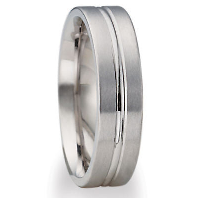 10K WHITE GOLD MENS MANS WEDDING BAND RING 5.5MM