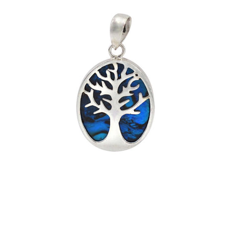 Tree of Life Pendant Abalone shell
