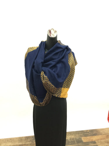 Navy and Gold scarf