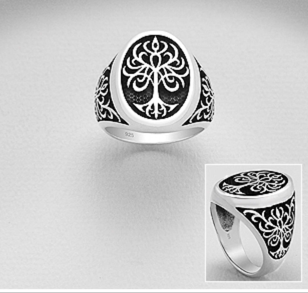Insignia Style Tree Of Life Ring