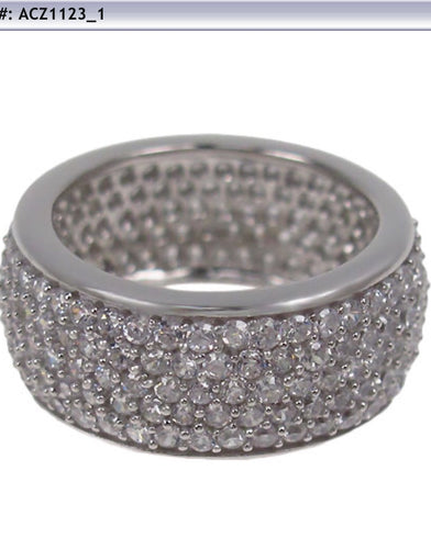 Wide Cz Eternity Band