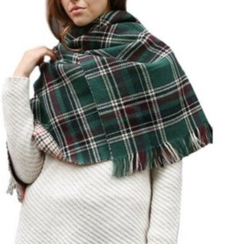 Reversible Oversize plaid Scarf
