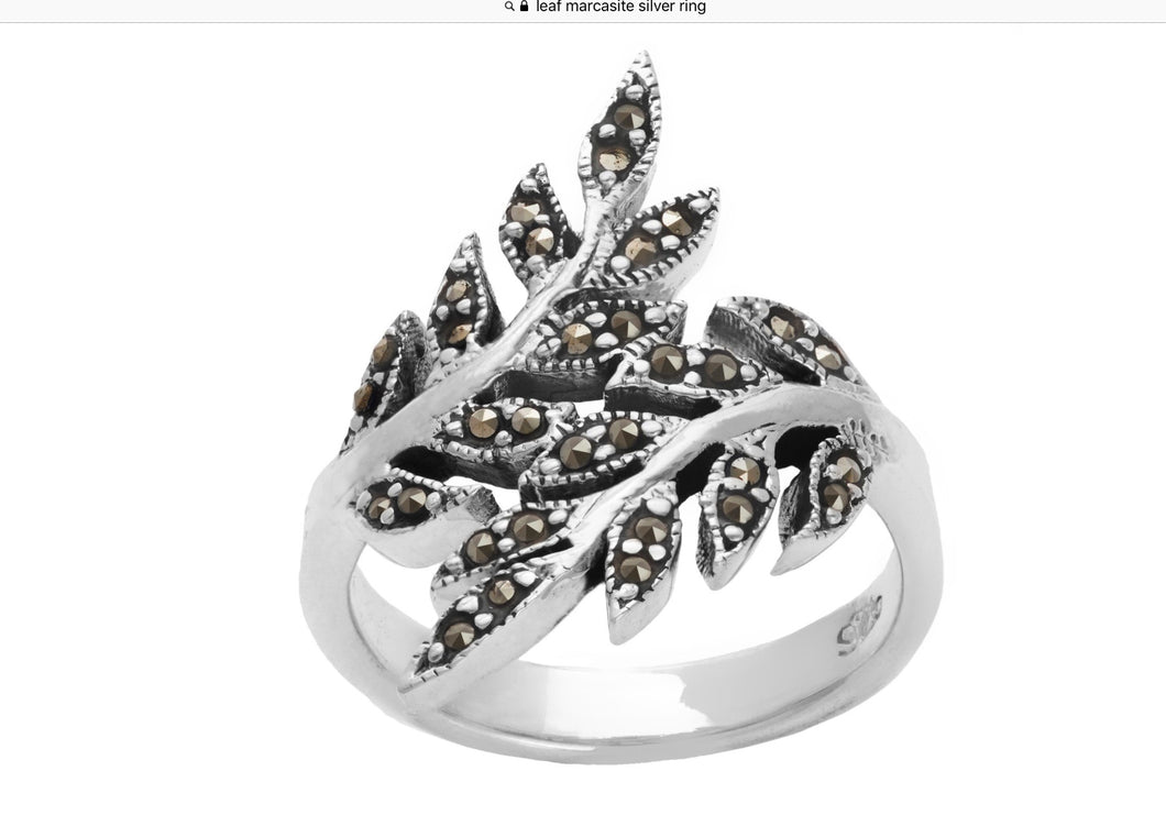 Branch Marcasite Ring