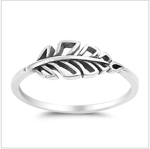 Single feather cut out Ring