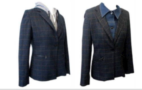 3 Piece Interchangeable Plaid Blazer