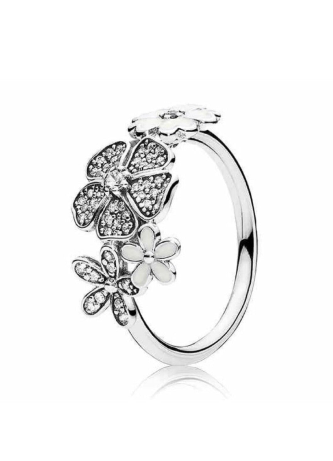 CZ Daisy floral Ring