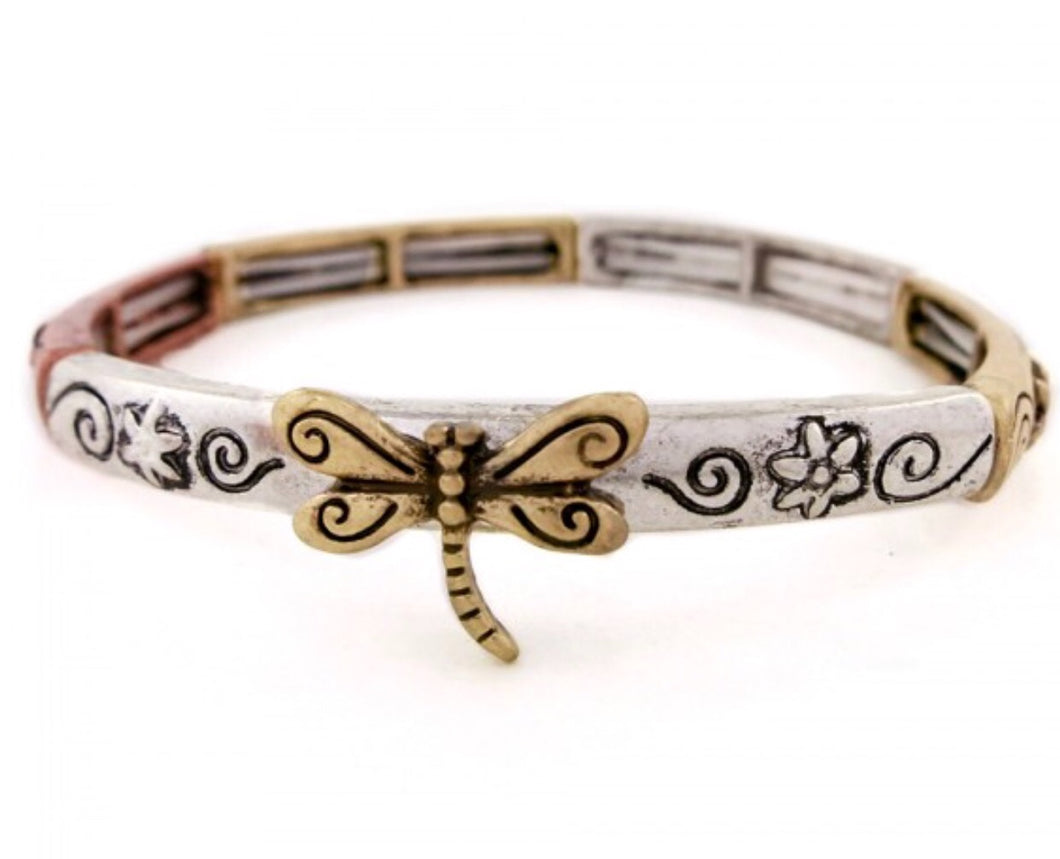 Multi color Dragonfly Bracelet