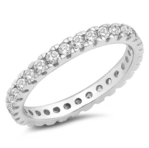 Eternity Round cut channel set Ring