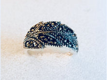 Marcasite Ivy leaf Silver Ring
