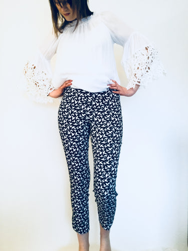 "Black/White Birdie 28""  Up! Pant"
