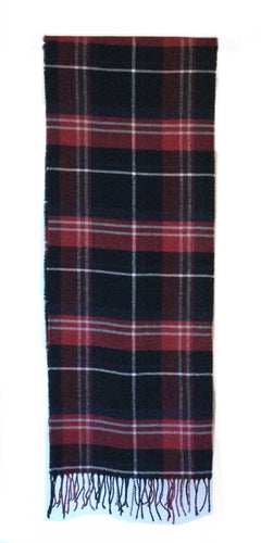 Men's Black/ Red, Navy Plaid scarf