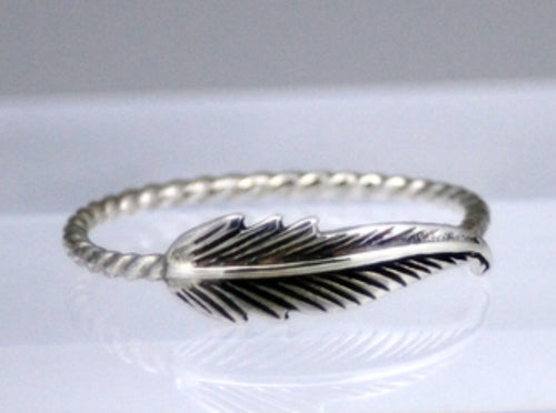 Feather Ring Rope Band