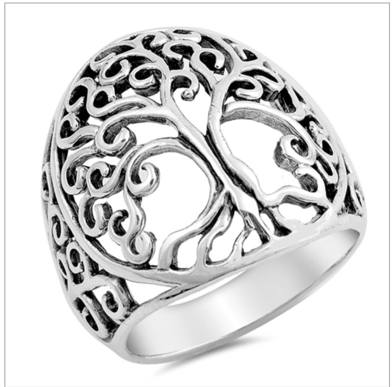 Dome Tree of Life ring