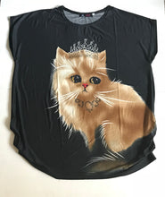 Kitten with Tiara Fun Top