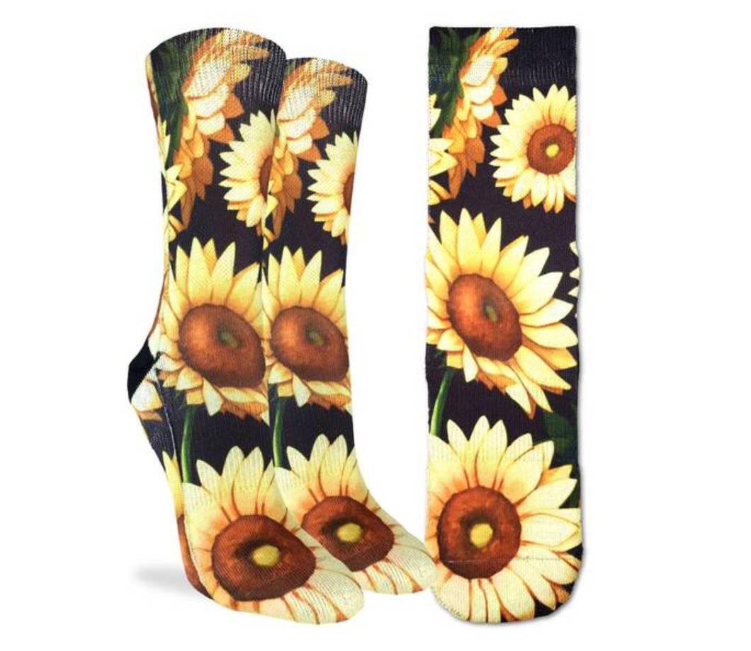 Women's Sunflowers Active Fit Fun Sock