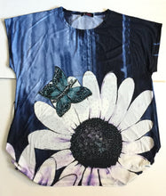 Over Sized Daisy/Single Butterfly FunTop